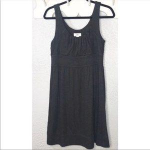 LOFT gray soft knit knee length dress Size 8